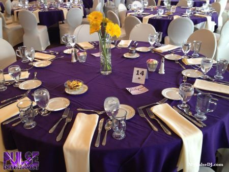 Purple Table Settings Loris Decoration